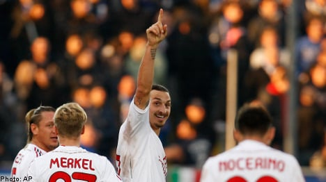 Zlatan's two goals help shoot Milan to victory