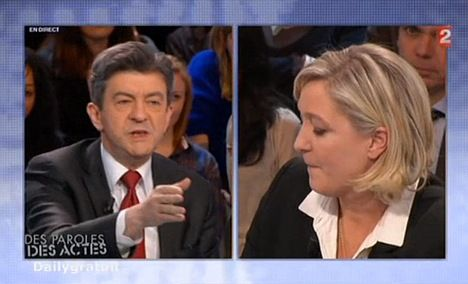 Le Pen refuses to debate with far-left candidate