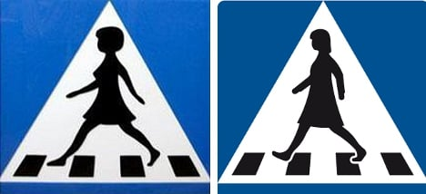 Swedish street signs axed over 'perky' breasts