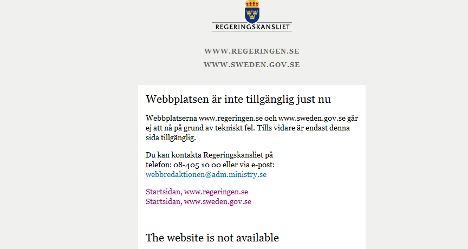 Hackers mount Swedish government cyber attack