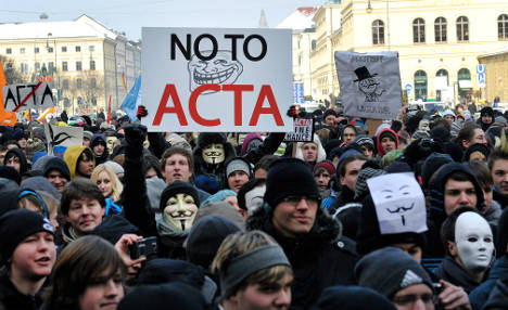 Thousands hit streets to protest copyright law