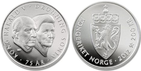 Royals minted as King Harald turns 75