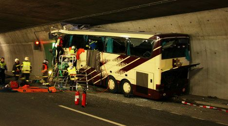 Families fly to scene of fatal Swiss bus crash