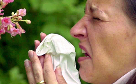 Warm weather sparks early hay fever