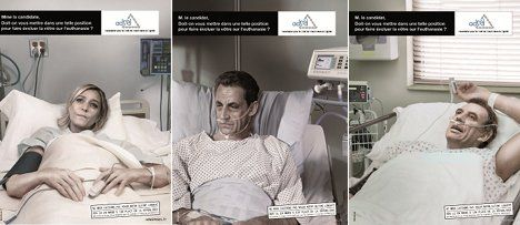 Campaign puts Sarkozy on his deathbed