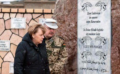 Merkel questions Afghan pull-out timetable