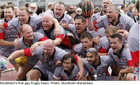 Gay rugby in Stockholm 'stirs the imagination'