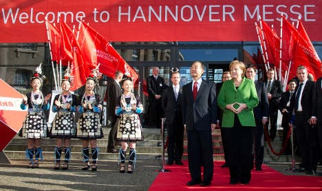 Chinese PM opens Hannover trade fair