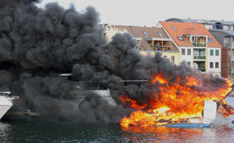 Exploding boat causes harbour holiday havoc
