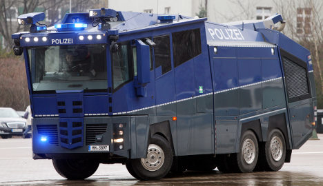 High-tech water cannon ready for Berlin May Day