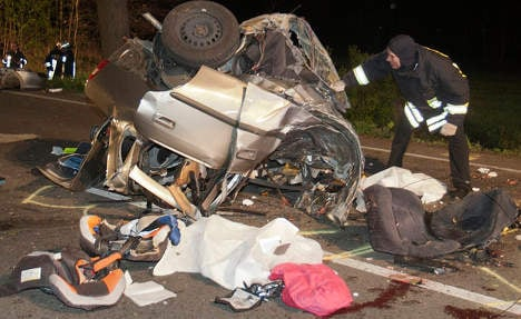 Three dead after car hits tree and rips apart