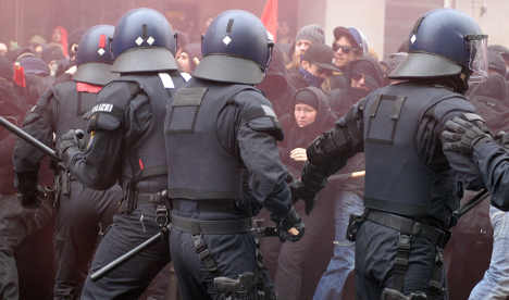 Police officer seriously hurt in Frankfurt riot