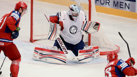 Russia dumps Norway out of hockey worlds