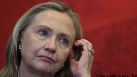Hillary Clinton heads for Stockholm