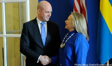 Hillary Clinton 'thrilled' with Sweden visit