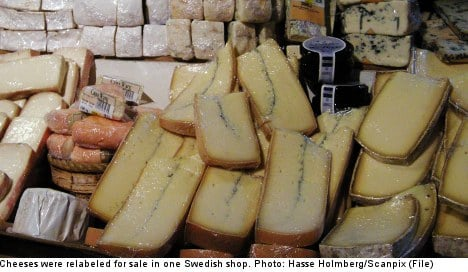 Swedish shops 're-label and sell' old food: report