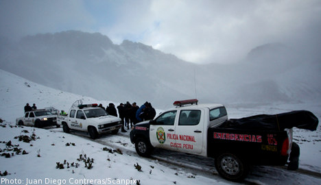 Swede reported missing in Andes chopper 'crash'