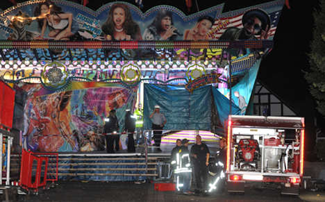 Seven hurt as funfair ride breaks up mid-spin