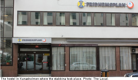 Woman stabbed at Stockholm youth hostel
