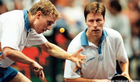 Persson bidding for table tennis medal
