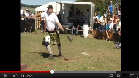 Swiss muscles vie for Highland Games glory