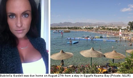 Swedish woman missing from holiday in Egypt