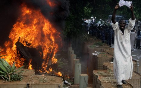 Germany condemns film as mob burns embassy