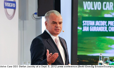 Stroke sidelines Volvo Cars CEO Jacoby