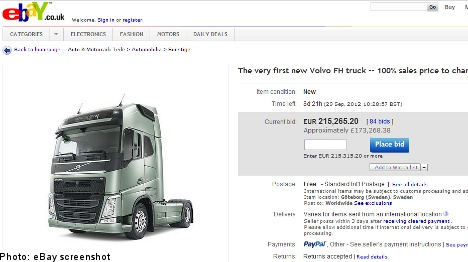 Volvo turns to eBay for innovative truck auction