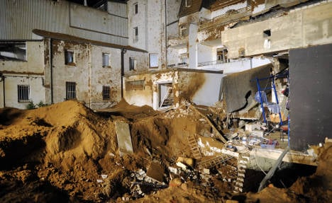 WWII bomb blast damages two houses
