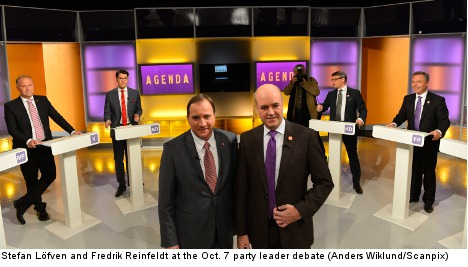Party heads clash in season's first debate