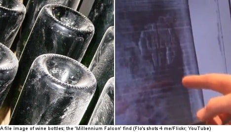 'Millennium Falcon' divers in old wine find