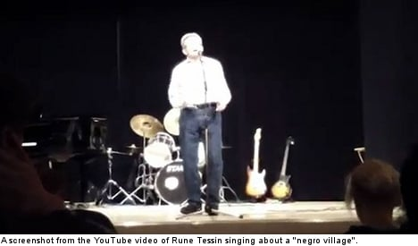 Green politician in 'negro village' song outrage
