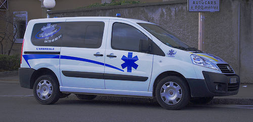Man steals ambulance with patient in the back