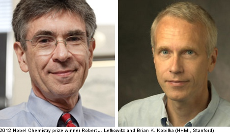 Two Americans share 2012 Nobel for chemistry