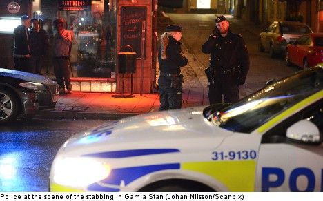 Man hospitalized after Gamla Stan stabbing