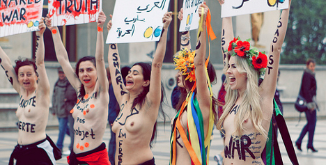 Catholic group to sue naked feminist protesters