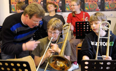 Germans stop learning to play music