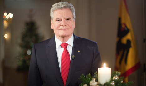 Gauck: solidarity the greatest Christmas gift
