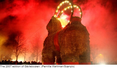 Arsonists hot on the hooves of Gävle goat