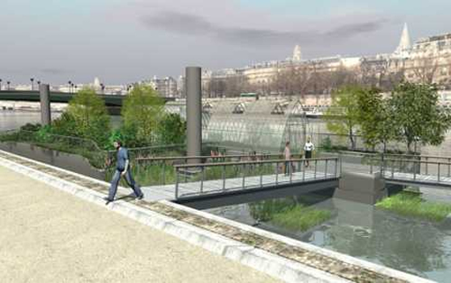 Famed Paris Left Bank closes to traffic