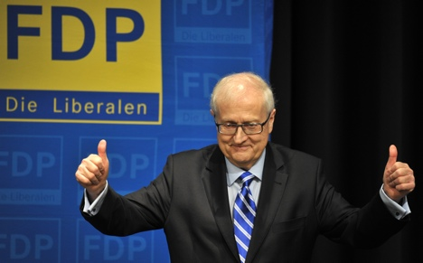 FDP celebrate under-fire election candidate