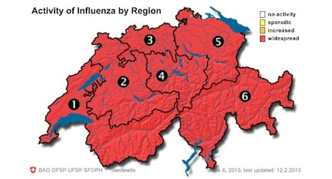 Swiss flu epidemic continues to grow
