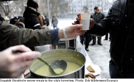 Stockholm soup kitchen exposes homeless plight