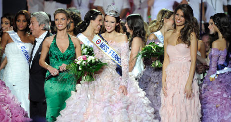French beauty queens in struggle for jobs