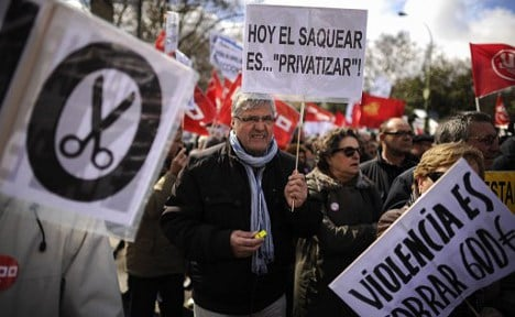 Workers stage demos in 60 Spanish cities