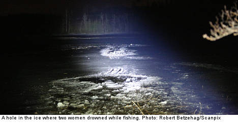Three drown while ice fishing in west Sweden