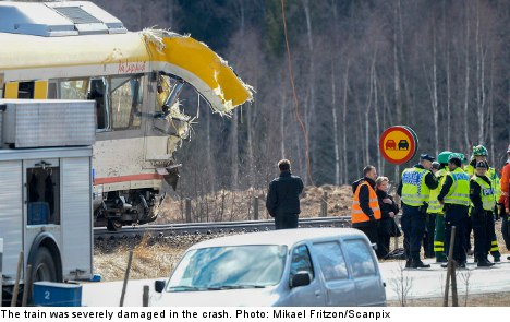Truck driver dies after train collision