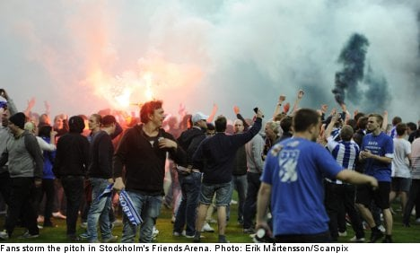 Football fans spark chaos in Stockholm final