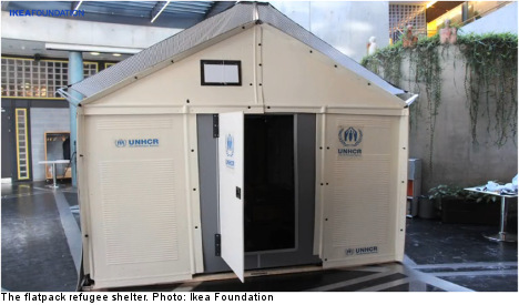 Ikea refugee homes are 'cheap and tough'